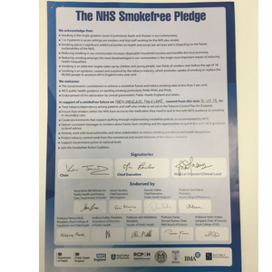 On World No Tobacco Day we've signed the NHS Smokefree pledge