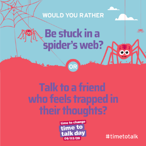 Organisations across the North East and North Cumbria are supporting 'Time to Talk Day'